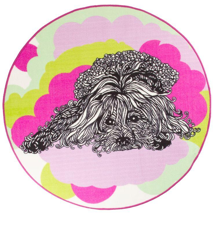 Vallila Interior AW14, Naapurin koira (The Neighbor's Dog) rug pink 133cm.