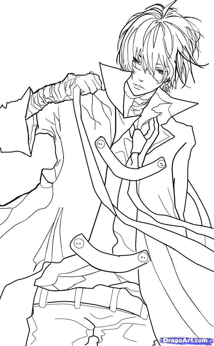how to sketch an anime boy step 11 Coloring pages for