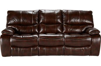 Cindy Crawford Home Gianna Brown Leather Reclining Sofa