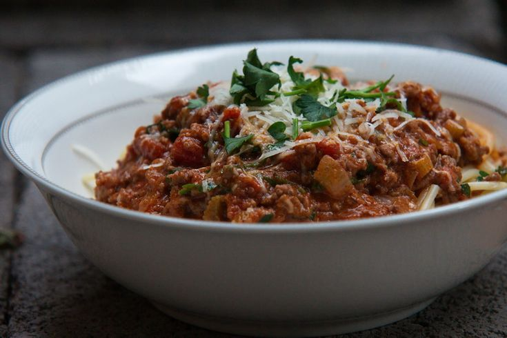Spaghetti Bolognese with bacon - Powered by @ultimaterecipe