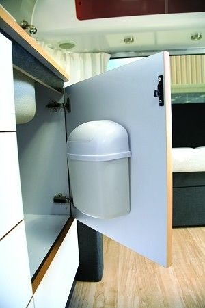 trash can - ideal to hang in the bathroom near the toilet -- then the floor is clear for mopping.