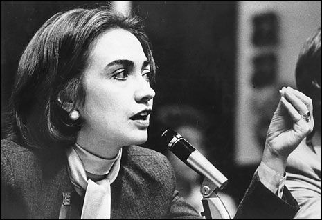 Hillary Clinton...still smart as a whip in her younger years