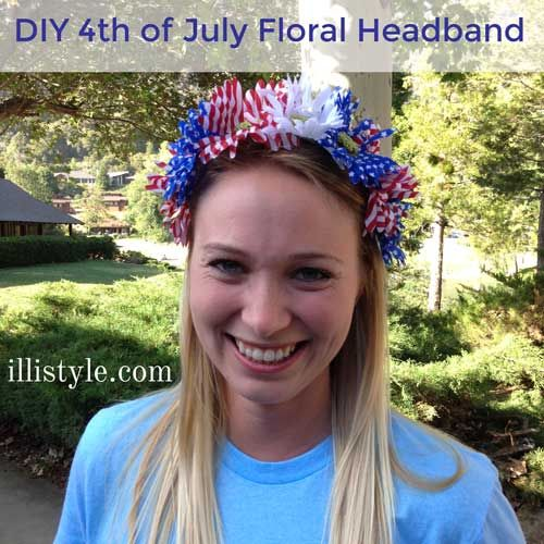 DIY 4th Of July Floral Headband Tutorial Just Choose Your