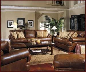 Living Room Leather Furniture will give a luxurious look in any living room.