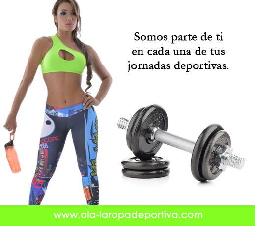 Somos parte de ti en cada una de tus jornadas deportivas.  Pantalón tipo pitillo. Referencia: 4040  VISITANOS.... http://www.ola-laropadeportiva.com/…/93-pantalon-leggins-ti…  #Pantalón #Deporte #Colección #Estampados #Colombia
