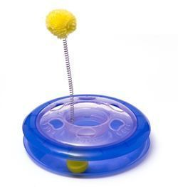 Cats love to chase, paw and pounce and this brilliant toy from Ancol gives them the opportunity to do all three. The Playground Toy features a super-fast ball track and a spring loaded pom pom.  Manufactured from durable, hard-wearing plastic, the Playground Toy is also easy to clean.  Your cat will love it!