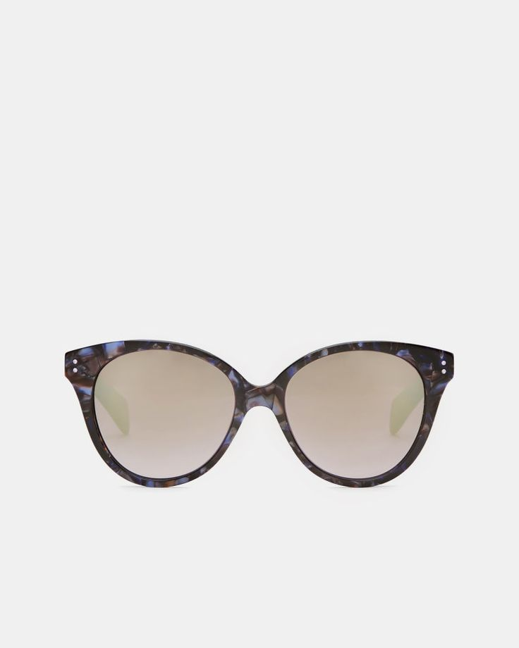 J2017  Marble oversized oval sunglasses  - Purple | Sunglasses | Other Europe Site