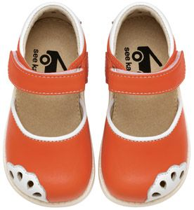 See Kai Run Lauren Orange Girls Toddler Sandals from seekairun.com
