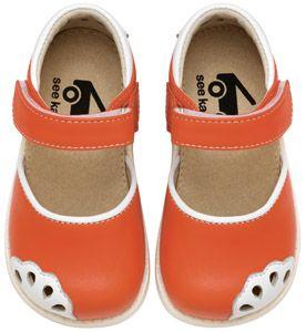 See Kai Run Lauren Orange Girls Toddler Sandals from seekairun.com