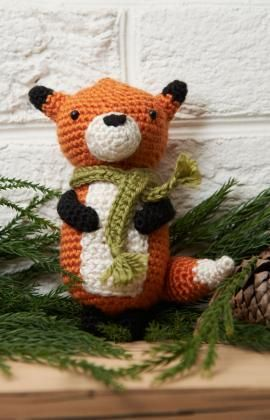 Red Heart Yarn Amigurumi Patterns : Fox Ornament Free Crochet Amigurumi Pattern from Red Heart ...