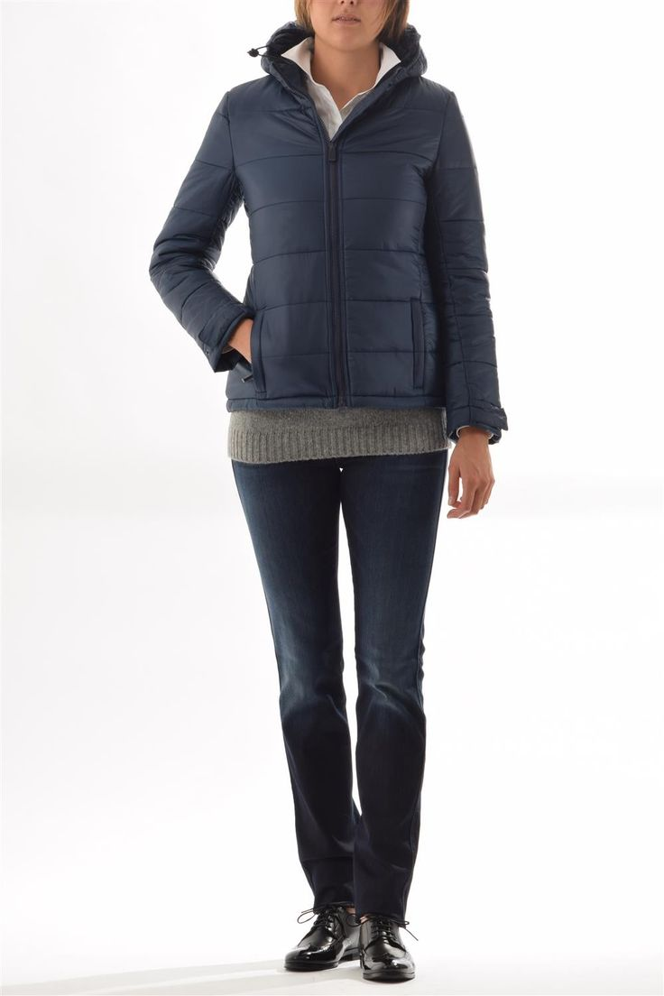 Women ecodown jacket Aspesi-ecodown hooded jacket mod.4N78
