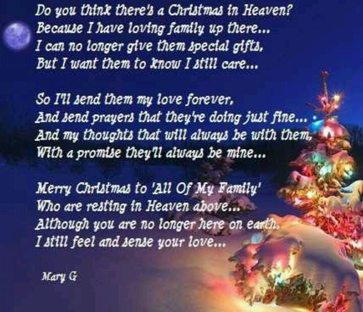 Christmas In Heaven Miss You Family Quotes Heaven In Memory Christmas  Christmas Quotes Christmas Quote Christmas Quotes About Losing Loved Ones  Christmas In ...