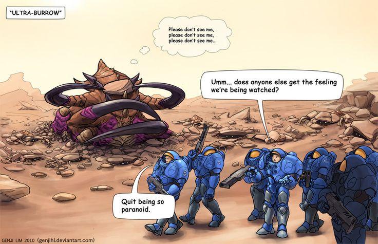 Ultralisk Burrowing Comic by *GenjiLim on deviantART