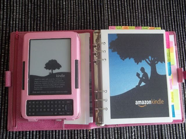 Filofax for her kindle/book reading organization.  Love!