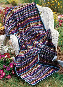 30 2015 #Crochet Blanket Patterns - Reversible Rainbow free crochet blanket pattern by Darla Fanton via Crochet! Magazine