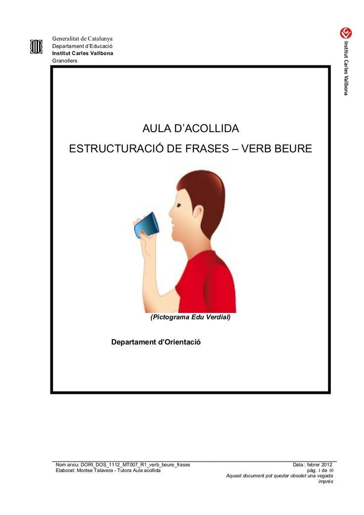Estructura de frases verb beure by silvia via slideshare