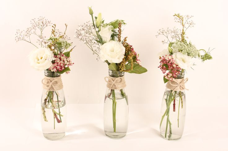 Rustic wedding flowers made by Amy's Flowers