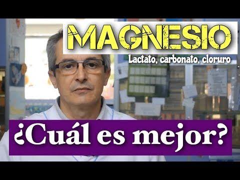 (4) MAGNESIO LACTATO, CARBONATO, CLORURO. ¿CUÁL TOMAR? - YouTube