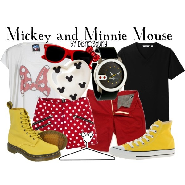 Mickey and Minnie Mouse, created by lalakay on Polyvore disney