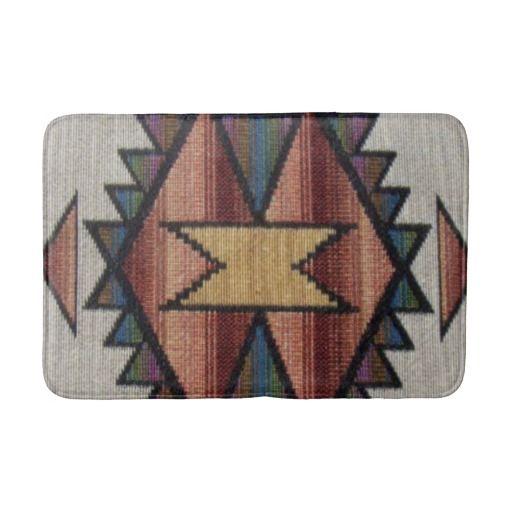 Southwestern pattern fun bath mat bath mats