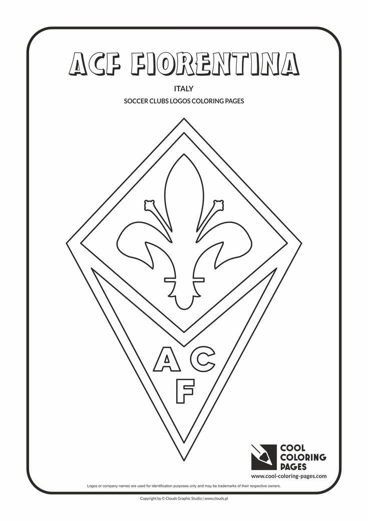 ACF Fiorentina logo coloring / Coloring page with ACF Fiorentina logo / ACF…
