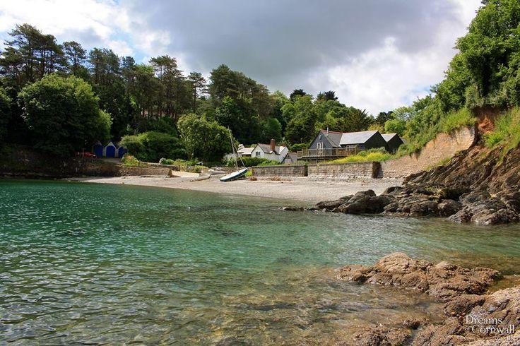 Flushing Cove on the banks of Gillan Creek, Cornwall.
