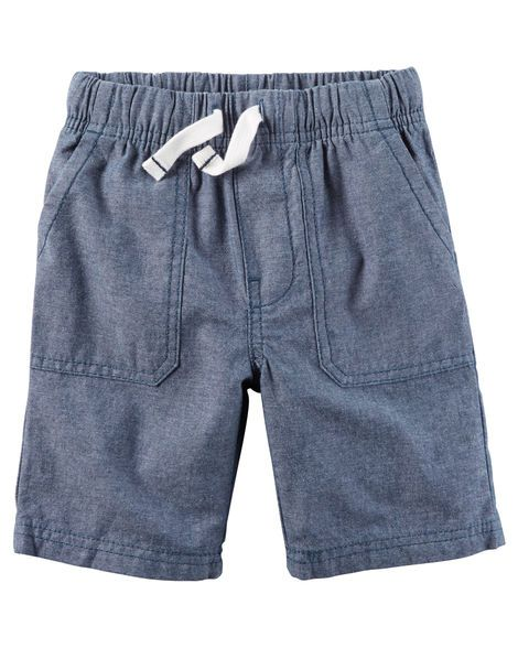 Baby Boy Pull-On Chambray Shorts from Carters.com. Shop clothing & accessories from a trusted name in kids, toddlers, and baby clothes.