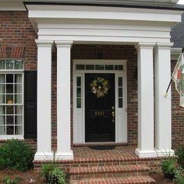Front Door Portico Designs Porch Front Portico Entry Design Ideas