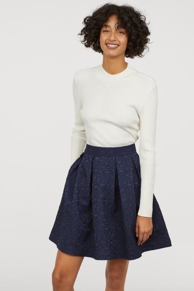 7605a608268c Jacquard-weave Skirt   wear   Denim pencil skirt, Jacquard weave, Skirts