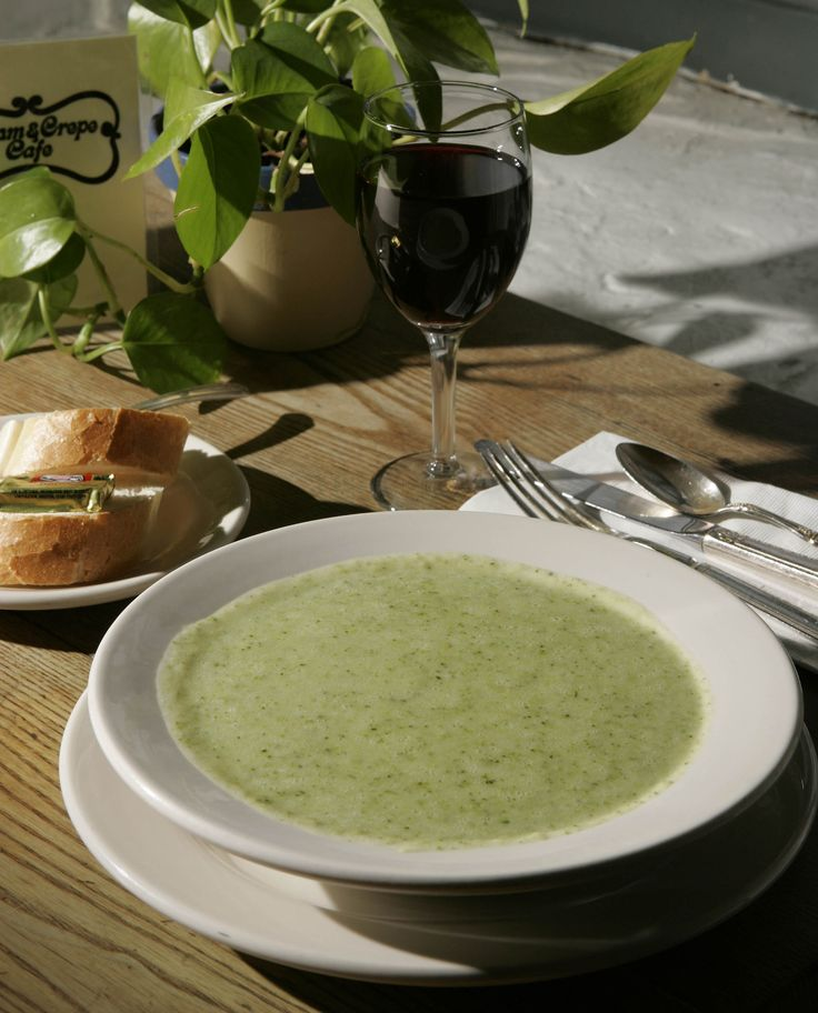 Carol Noll, Port Washington, requested the recipe for broccoli soup served at Cream