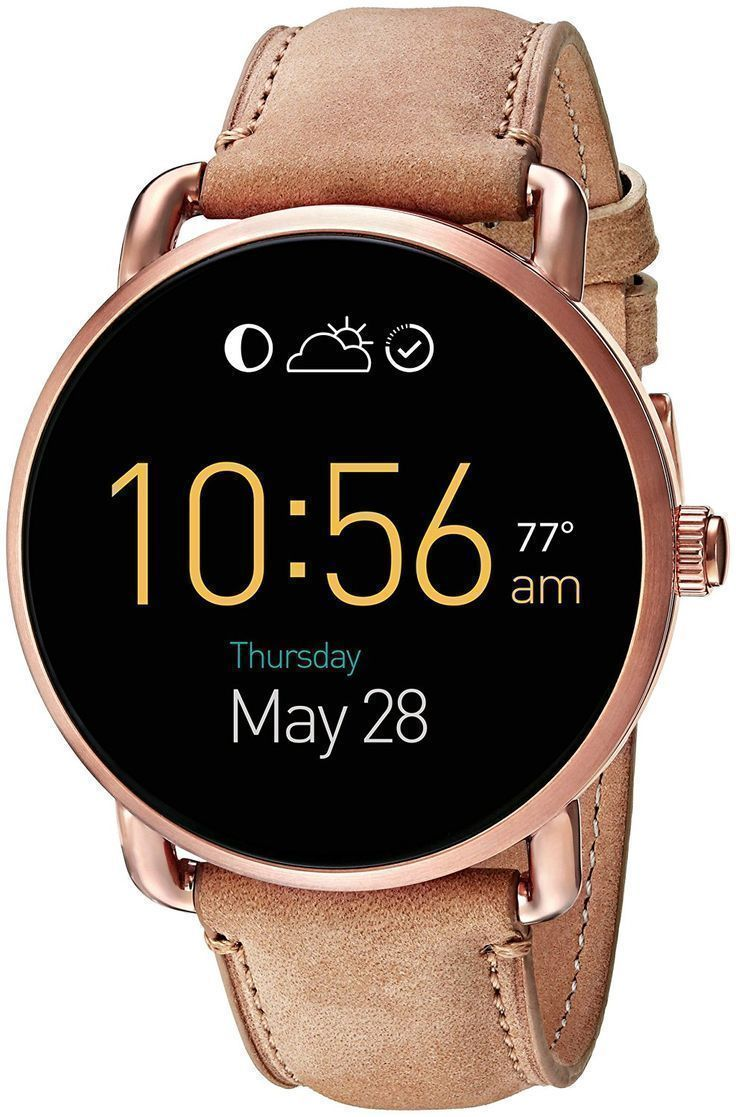 Fossil Q Wander Touchscreen Light Brown Leather Smartwatch. #Watches #SmartWatches #Fossil #fossilQWander - mens watches uk, quality mens watches, cheap designer mens watches - Shop at Stylizio for luxury designer handbags, leather purses and wallets. Women's and Men's watches, jewelry, sunglasses and other accessories. Fine gold and 925 sterling silver rings, necklaces, earrings. Gift ideas for women and men! #men'sjewelry #Men'sSmartWatch #womanswatch