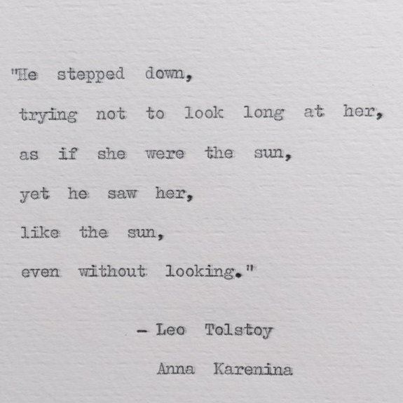 Leo Tolstoy Anna Karenina Typewriter Quote; weddings, love, bookish by BookishGifts on Etsy