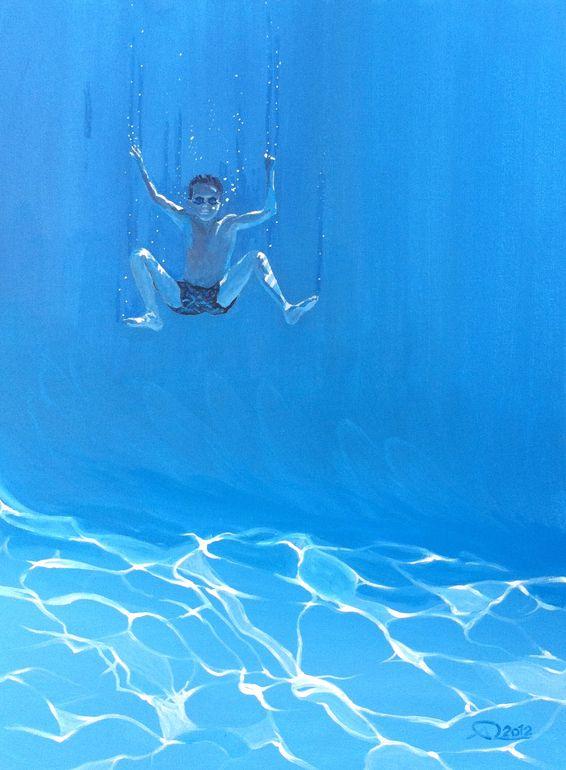 "Saatchi Art Artist: Antoine Renault; Acrylic 2012 Painting ""Tombé du ciel"""