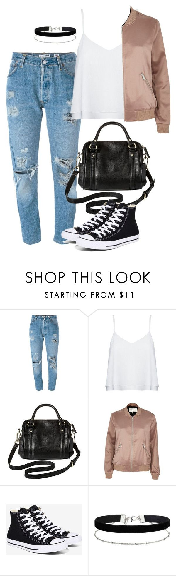 """Sin título #315"" by franciscagomezm on Polyvore featuring moda, Levi's, Alice + Olivia, Merona, River Island, Converse y Miss Selfridge"