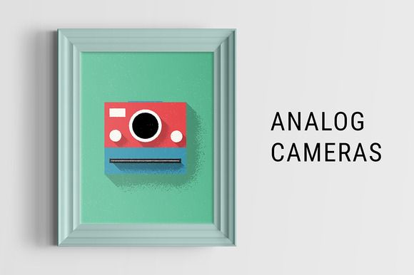 Analog Cameras Illustration by LukasFlekal on Creative Market(This site offers this file by the end of this week!)