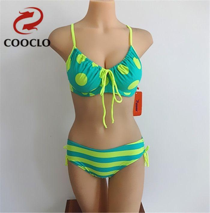 Plus size vrouwen bikini set, explosie modellen neopreen dot badmode, gratis Verzending vintage zachte cup sexy badpak