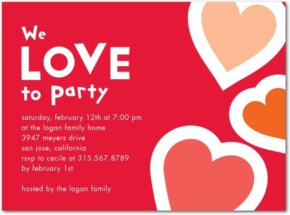 8 best VDay Party images on Pinterest Valentine party - valentines day invitations