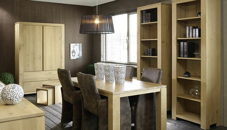 Rustic - De meubelen van de Rustic Line vormen de basis van het ambachtelijk wonen in een moderne vormgeving. Dit wordt extra onderstreept door de strakke belijning, de blinde grepen, het zwevende bovenblad en de praktische schuifdeuren. BKS -Holland.com