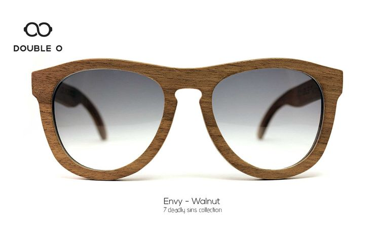 Envy - Walnut / Handmade Wooden Sunglasses / Made in Crete,Greece
