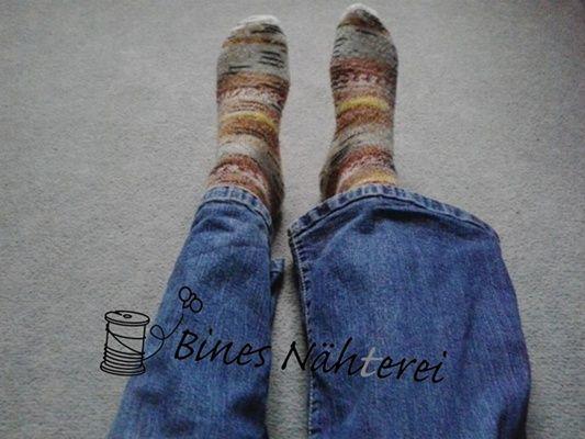 Jeans am Bein enger nähen