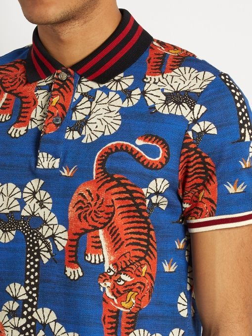 2faed5e6e76 Gucci Bengal print polo shirt - For an instant uniform refresh look no  further than Gucci s
