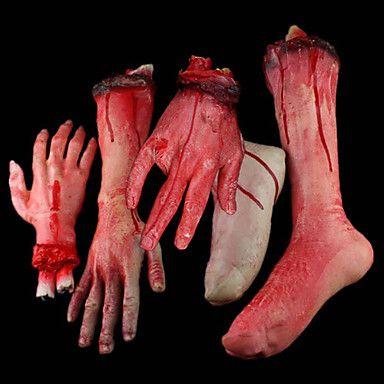 Kauhea Halloween Broken Bloody kädet ja jalat Set (5 kpl) – EUR € 32.99