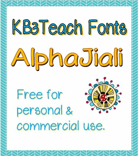 """FONTS:  """"KB3AlphaJiali"""" FREE for personal & commercial use."""