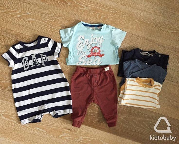 Комплектом на рост от 68 до 80 см: футболка и брюки Zara, боди Next и h&m, песочник Gap, толстовка. Всего 480 ₽✨  #kidtobaby #kidtobaby_товары