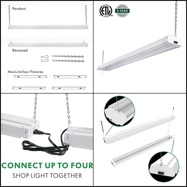 4ft 42 Watt Best LED Shop Light Garage Workbench Ceiling Lamp Daylight White #hykolity