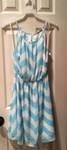Open Shoulder Mint Chevron Print Dress (S,M,L) $37.00
