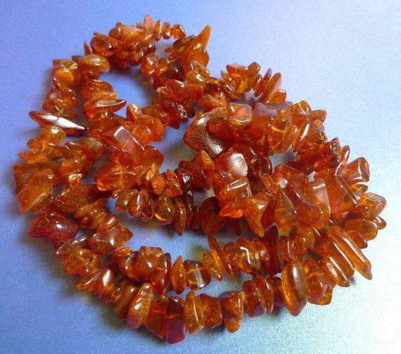 Vintage Jewelry 66g Natural Polished Dark Cognac Baltic Amber