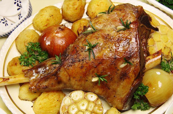 Αρνί+με+σαφράν+και+πατάτες