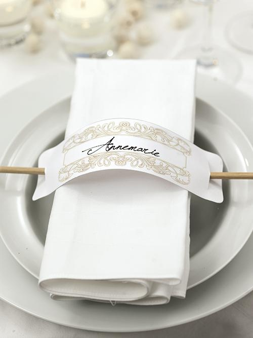 Could use chopsticks for this placecard idea.