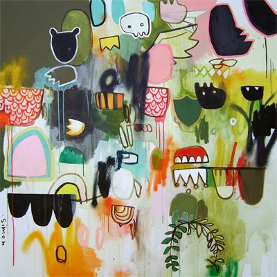 where grown ups grow from, simon de groot. #abstract #art: Abstract Art Fantastic, Daily Paintings, Degroot Check, Painting Ideas, Abstract Paintings, Mixed Media Art, Pci Ideas, Collage Mixed Media, Simon Degroot